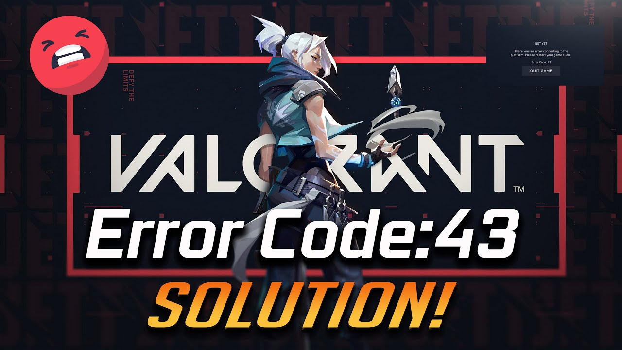 This is the dreaded error code 43 that has been a huge part of why so many people have quit Valorant over the years